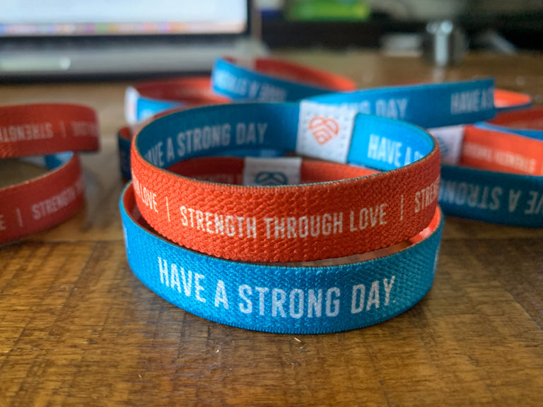 *HALF OFF* | REVERSIBLE WRISTBAND | HAVE A STRONG DAY. |  - LOVE, ANXIETY, DEPRESSION - HAVE A STRONG DAY.