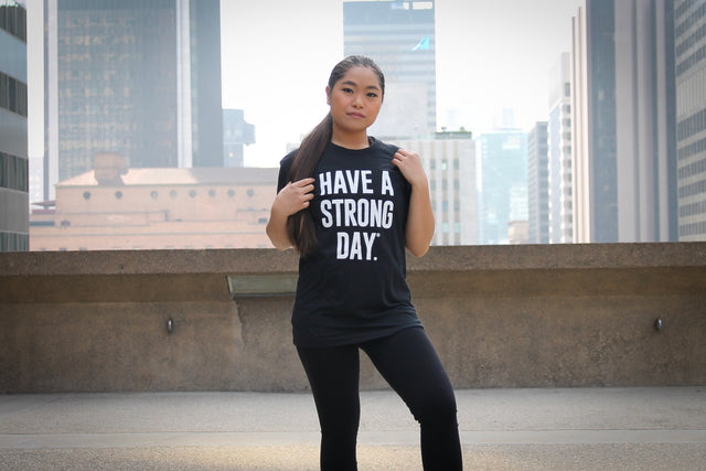 HAVE A STRONG DAY. || MENTAL STRENGTH SHIRT (BLACK) - MENTAL HEALTH AWARENESS, ANXIETY, DEPRESSION