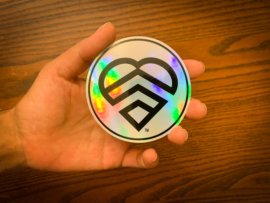 LOGO HOLOGRAPHIC VINYL STICKER | HAVE A STRONG DAY. | MENTAL HEALTH | LOVE, ANXIETY, DEPRESSION