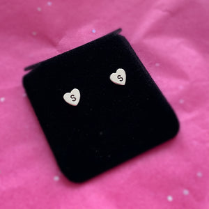 Heart Initial Earrings (Set)