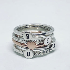 Initial ring Plain Band