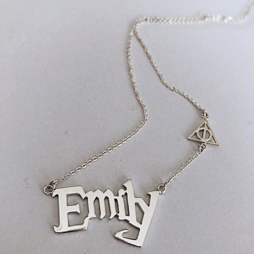 Harry potter Font Name necklace