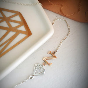 Single Letter Initial Necklace