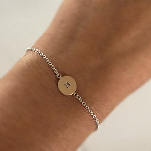 Disc Initial Baby Bracelet