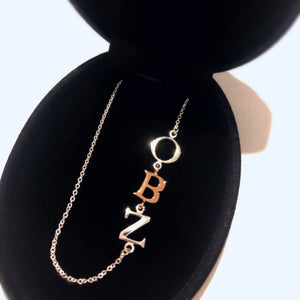 3 Letter Initial Necklace