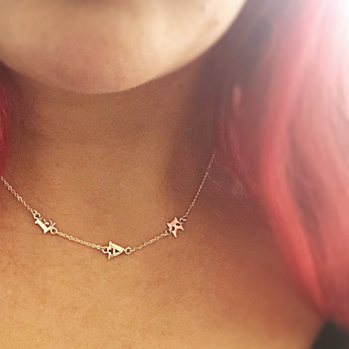 Tiny 2 Letter Initial Necklace