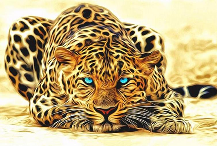 Paint By Numbers - Laying Down Leopard