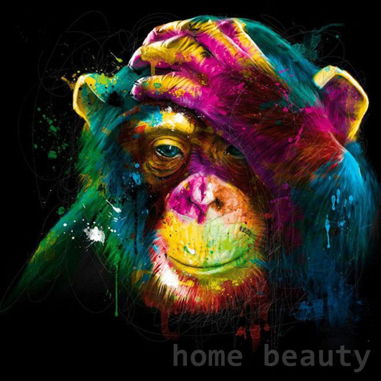 Paint By Numbers - Colorful Thinking Monkey