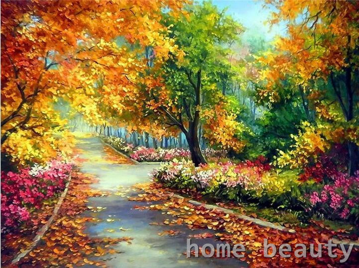 Paint By Numbers - Colorful Fall Park Scene