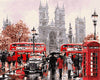 Paint By Numbers - London Phone Booth and Buses