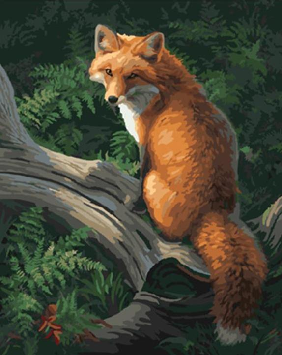 Paint By Numbers - Mountain Fox (no frame)