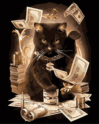 Paint By Numbers - Money Bags Cat