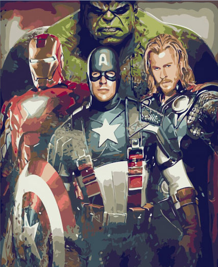 Paint By Numbers - The Avengers (NEW)
