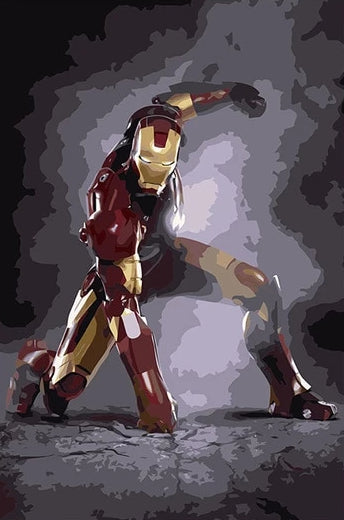 Paint By Numbers - Iron Man Power Pose