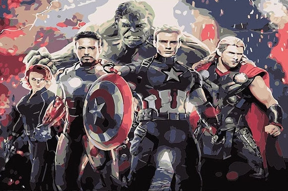 Paint By Numbers - The Avengers
