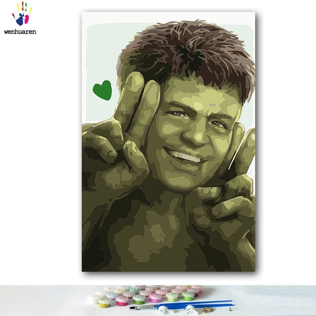 Paint By Numbers - Peaceful Hulk
