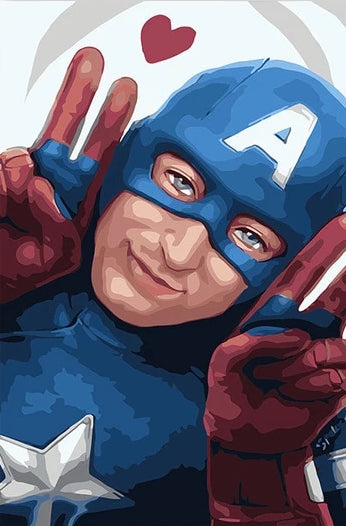 Paint By Numbers - Captain America