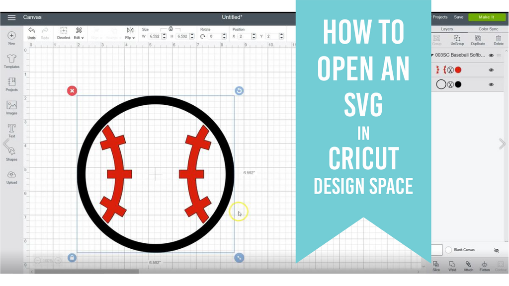 How to open an svg in Cricut Design Space