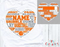 Basketball Heart Subway Art Template