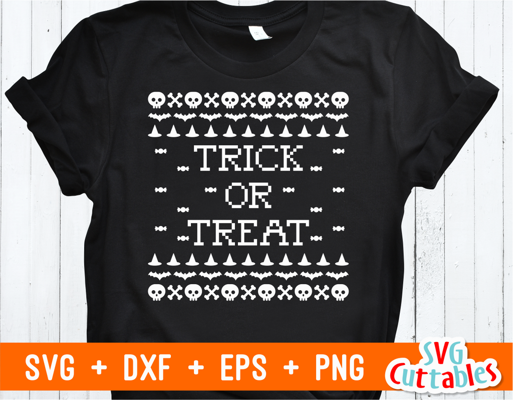 Trick or Treat Sweater | Halloween SVG Cut File