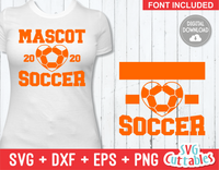 Soccer Template 0010 | SVG Cut File
