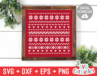 Christmas Sweater Pattern | Cut File