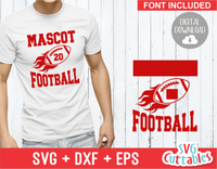 Football Template 0011 | SVG Cut File