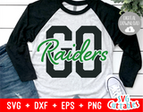 Go Raiders | Sports Mascot SVG Cut File