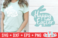 Happy Easter Bunny SVG Cut File