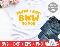 Pride From Bow to Toe | Cheer svg Cut File