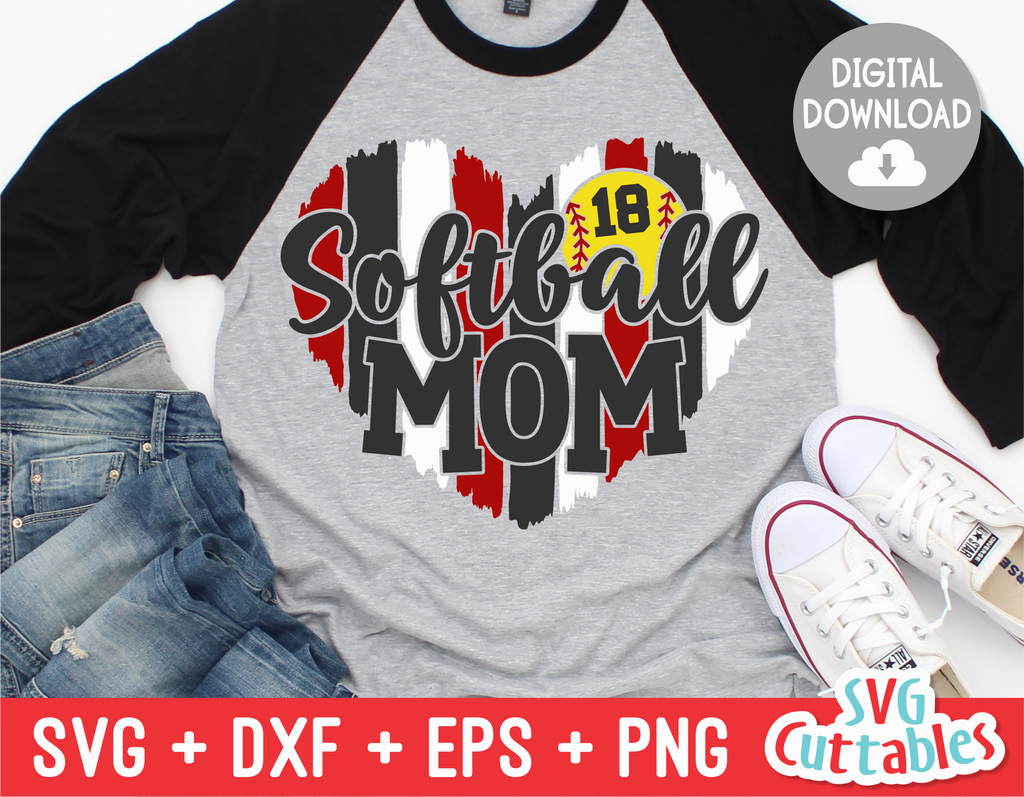 Softball Mom  | SVG Cut File