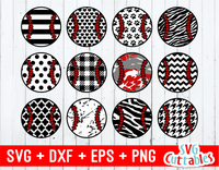 Patterned Baseballs set of 12