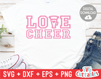 Love Cheer | Cheer svg Cut File