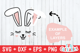 Bunny Face | Easter Cut File