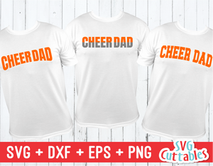 Cheer Dad | Set of 3 | Cheer svg Cut File