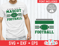 Football Template 0014 | SVG Cut File