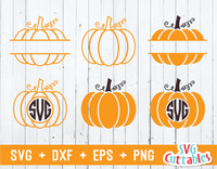 Pumpkins set of 6 | Autumn | Fall Cut File