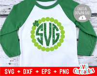 Shamrock Monogram Frame | St. Patrick's Day Cut File