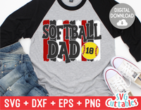 Softball Dad  | SVG Cut File