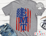 Distressed Flag | EMT | SVG Cut File