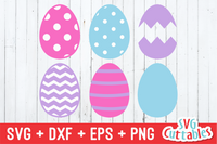 Easter Egg Set of 6 SVG Cut File