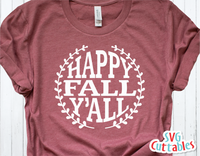Happy Fall Y'all  | Autumn | Fall Cut File