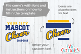 Cheer svg Template 0016, svg cut file