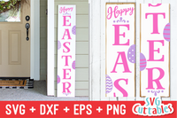 Happy Easter Vertical Sign SVG Cut File