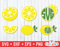 Lemon Set | Summer | SVG Cut File