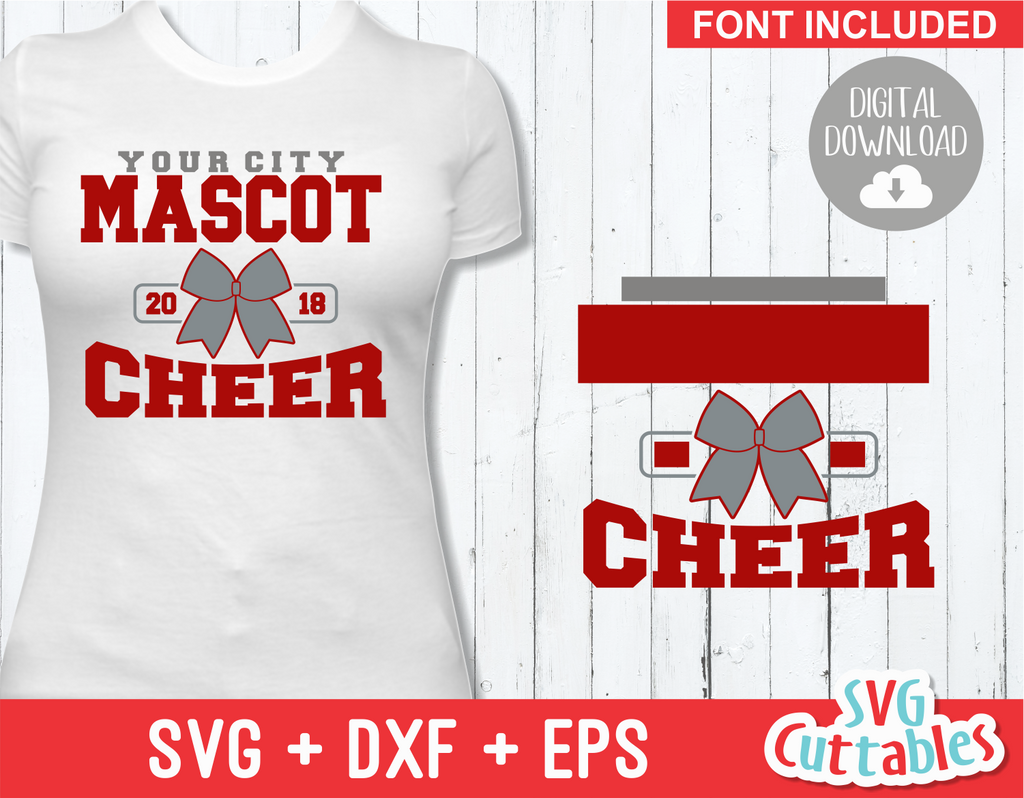 Cheer svg Template 0017, svg cut file
