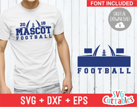 Football Template 0017 | SVG Cut File