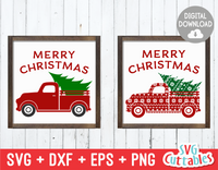 Merry Christmas Truck | Cut File