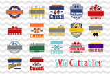 Cheer svg Templates Bundle #1