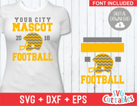Football Template 0018 | SVG Cut File